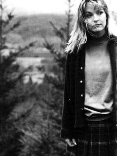 """""""If something scares me, then I have to do it"""" - SHERYL LEE - (A beautiful still from Twin Peaks: Laura Palmer / Sheryl Lee)"""