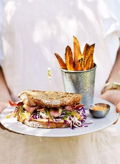 It's hard to pass up a great sandwich, especially when it's layered up with juicy steak, crunchy slaw and silky hot mayo!