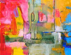 Abstract Expressionist Original  oil abstract by JaniceWarrinerArt, $535.00