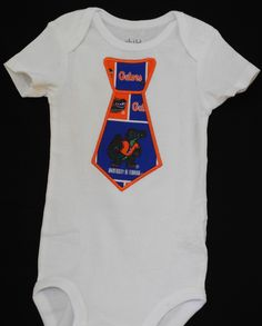 Florida Gator Onesie   Three friends having babies soon :) can't wait to spoil them in orange and blue