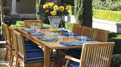 Cassara 7-pc. Rectangular Dining Set in Natural Finish