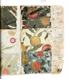 William Morris, Sketchbook featuring textile designs via Stephen Ellcock
