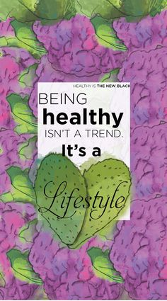 Being healthy isn´t a trend it´s a lifestyle iphone wallpaper. Healthy lifestyle wallpapers. Enjoy!!