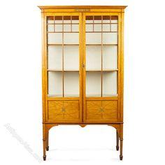 Edwardian Satinwood & Inlaid Display Cabinet