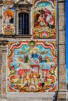 Detail Santa Maria de Válega Church. Aveiro Portugal