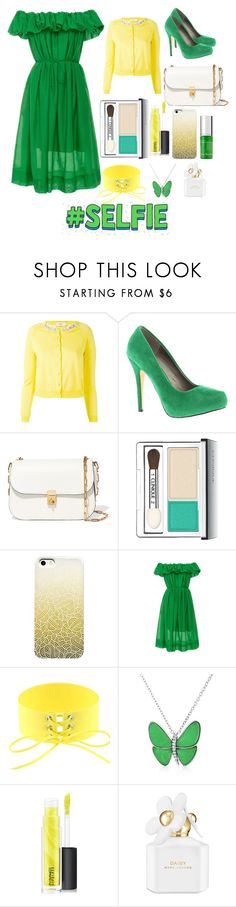 """#9  Green&Yellow&White"" by anna-daddario ❤ liked on Polyvore featuring Blugirl, Michael Antonio, Valentino, Clinique, Paule Ka, Bling Jewelry, MAC Cosmetics, Marc Jacobs and Kat Burki"
