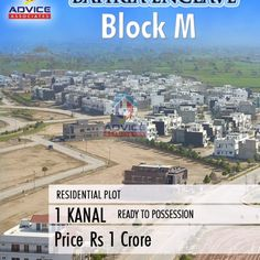 Bahria Enclave Sector M Plots For Sale, Investing, Real Estate, Advice, Real Estates
