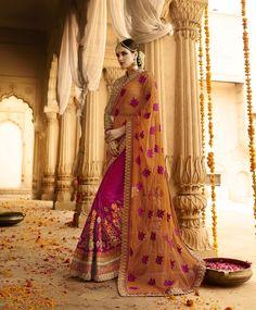 Orange Silk Half and Half Saree 78563