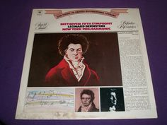 "NY Philharmonic Bernstein - Beethoven Fifth Symphony - 12"" Vinyl LP - M 31810"