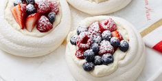 Vegan meringue. 9 things you can make with aquafaba. Meringue nests with coconut cream and berries