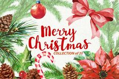 Christmas watercolors by Fox_studio on @creativemarket