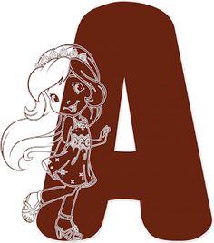 Alfabeto Decorativo: Alfabeto - Moranguinho 7 - PNG - Letras - Maiúscul...