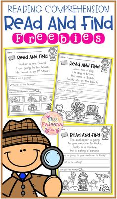 Free Reading Comprehension – Read and Find Free Reading Comprehension – Read and Find. There are 3 pages of reading comprehension worksheet. Reading Groups, Reading Strategies, Reading Activities, Teaching Reading, Guided Reading, Free Reading Comprehension Worksheets, First Grade Reading Comprehension, Learning, Comprehension Strategies