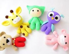 Amigurumi Crochet Patterns: Baby and Animal Friends. Crochet