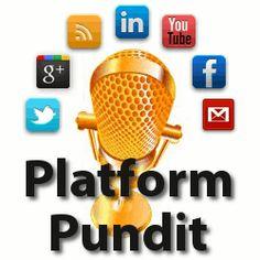 Platform Pundit - How to build your brand and platform. Social media; relationship marketing; growing your audience.  · http://www.PlatformPundit.com