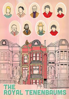 would be pretty matted in a big frame: The Royal Tenenbaums POSTER