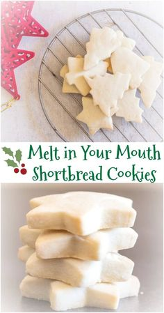 The Best Simple Two Way Shortbread Cookies, the ultimate melt in your mouth Traditional or brown sugar. Your new Shortbread recipe. Best Shortbread Cookies, Shortbread Recipes, Sugar Cookies Recipe, Christmas Shortbread Cookies, Brown Sugar Cookies, Melt In Your Mouth Shortbread Recipe, Cream Cookies, Simple Sugar Cookie Recipe, Gourmet