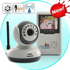 Wireless Baby Monitor with Two Way Audio and Night Vision