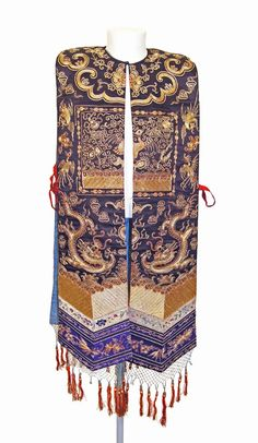 Chinese Tabard from the Qing Dynasty. (Back).