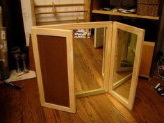 diy tri-fold mirror....your next project @Vincent Kwek Menconi