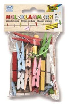 48 dřevěných kolíčků v přírodním i barevném provedení. Shopping