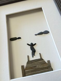 6 by 8 leaping off the dock pebble art by sharon by PebbleArt                                                                                                                                                                                 More