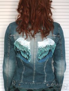 Jeans jacket and my wings.