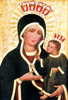 Matka Boża Pocieszenia - Kęty Madonna, Westerns, Icons, Baseball Cards, Byzantine