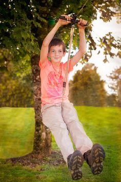 The Garden Zip-Line by Zip-Lines Ireland. Active fun for your family :) Zip Line Kits, Your Family, Ireland, Adventure, Garden, Fun, Garten, Lawn And Garden, Gardening