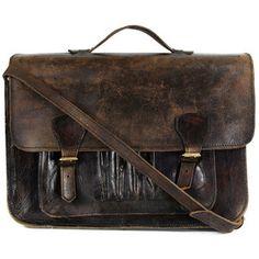 Priestley'S Vintage Burnt Umber Leather Satchel