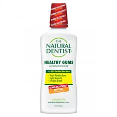 The Natural Dentist® Healthy Gums Antigingivitis Rinse, Peppermint Twist, oz Causes Of Bad Breath, Bad Breath Remedy, Gum Health, Peppermint, Health And Wellness, Dental, Remedies, Healthy, Natural