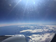 Flying over greenland. Pretty cool view crossing the pond.