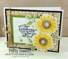 Watch my free video tutorial today to see these color combo ideas for stamping the Stampin' Up! Painted Harvest sunflower stamps, as well as a couple bonus tips!       Please enjoy my VIDEO below f