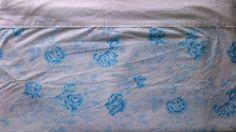 Vintage Aqua Turquoise Blue & White Rose Floral by binisboutique
