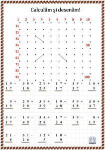 Calculăm și desenăm! Fișe de lucru cu operații matematice și desen Chart, Math, Words, Education, Second Best, Calculus, Math Resources, Onderwijs, Learning