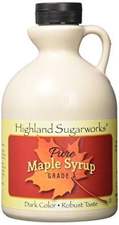 b7a5e7a56a4 Highland Sugarworks Jug 100% Maple Syrup Pure Grade A Dark Color with  Robust Taste 32