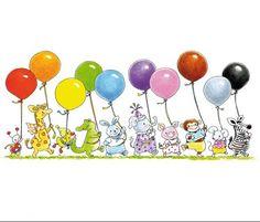 Fotobehang Sweet Collectie - Big Balloon Parade - FotobehangFactory.nl