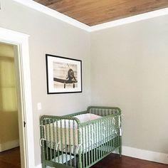 Green crib and wood