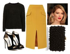 """""""Untitled #1989"""" by cheresh ❤ liked on Polyvore featuring Elie Saab, Topshop and Capelli New York"""