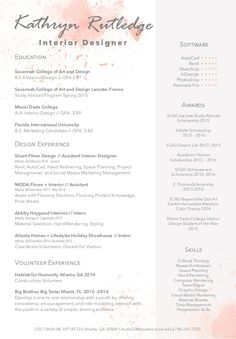 8 best interior design resume images on Pinterest | Cv design ...