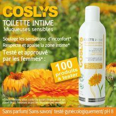 Test produits - Toilette Intime muqueuses sensibles de Coslys - Nous recherchons 100 testeurs ! Posez votre candidature gratuitement.