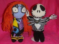 Jack Skellington & Sally Nightmare Before Christmas Tim Burton AmigurumiI Crochet doll
