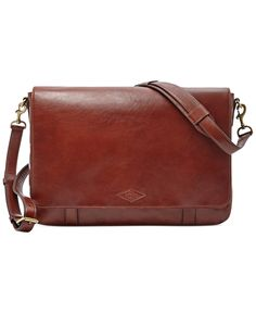 Fossil Aiden Leather Messenger Bag - Accessories & Wallets - Men - Macy's