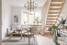 Nordic Light: Home Staging in Sweden Living Room And Dining Room Design, Living Room Styles, Living Room Colors, Living Room Modern, Home And Living, Living Room Furniture, Living Room Designs, Living Spaces, Style Salon