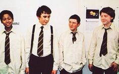 """The boys. When ever I see Seamus I automatically think. """"I don't appreciate the insinuation, Longbottom. Besides, if anyone cares to notice, my eyebrows have completely grown back! """""""