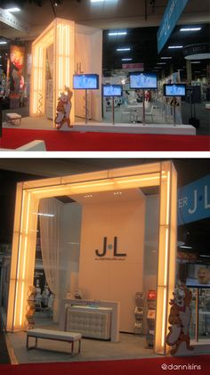 Warm fluorescent lamps booth, JL Group at Licensing 2013