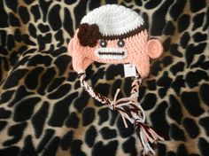 Check out my Etsy Shop!  Pink and Brown Crochet Sock Monkey Hat  Newborn by TbearsCreations, $20.00