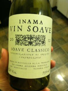 Soave Classico - mostly Garganega with some Trebbiano - Inama, Verona, Northern Italy, 2012 -- Classic lemon and almond, lots of mineral, some melon mid palate, clean finish