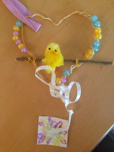 Easter chick decoration made at Bramwell care home, 26.3.15