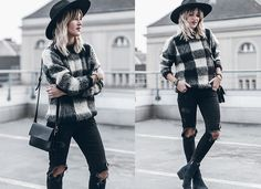 Get this look: http://lb.nu/look/7989646  More looks by Mikuta: http://lb.nu/mikuta  Items in this look:  Edited Sweater, Zara Jeans, Goorin Brothers Hat, Ganni Bag, Circus By Sam Edelman Shoes   #chic #classic #street